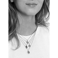 Charm Silverplated Ketting Kever Ster Cirkel