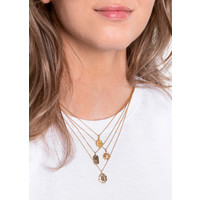 Charm Goldplated Ketting Kever Ster Cirkel