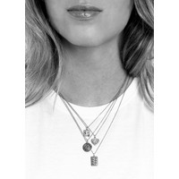 Charm Silverplated Ketting All the Luck Cirkel