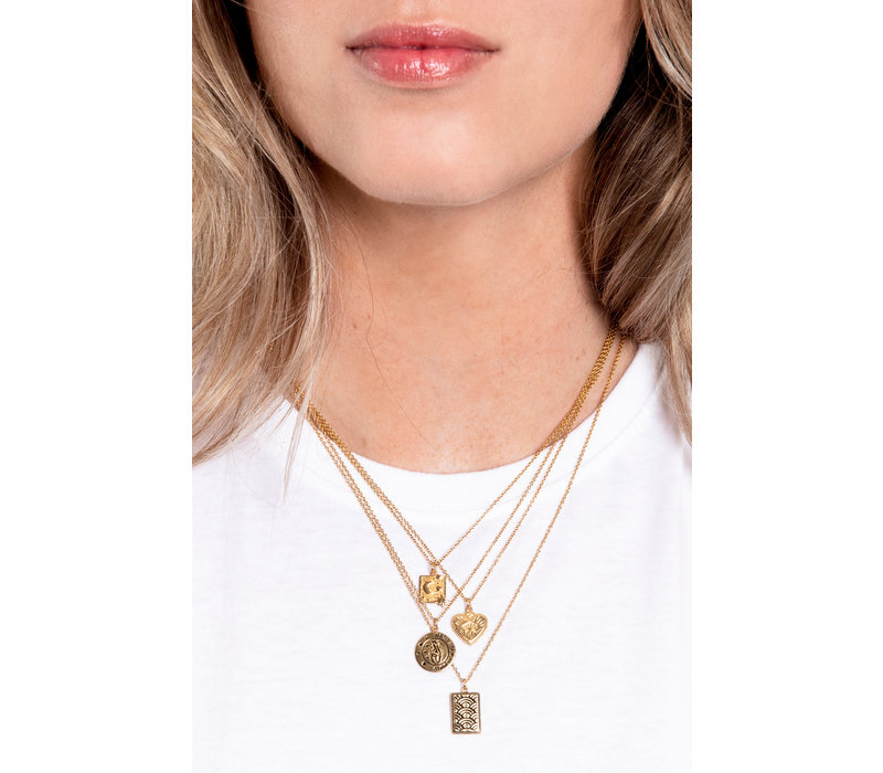 Charm Goldplated Necklace All the Luck Circle