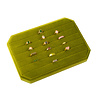 All the Luck in the World Velvet ring display box Olive green large