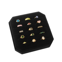 Fluweel ring display box Zwart