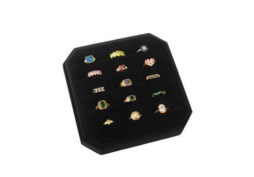 All the Luck in the World Velvet ring display box Black