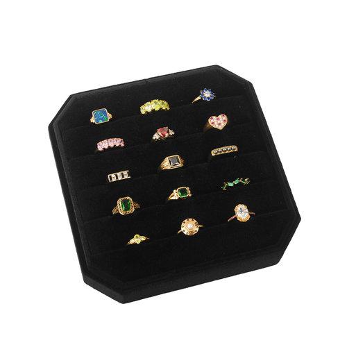 Velvet ring display box Black
