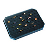 All the Luck in the World Fluweel ring display box Blauw groot