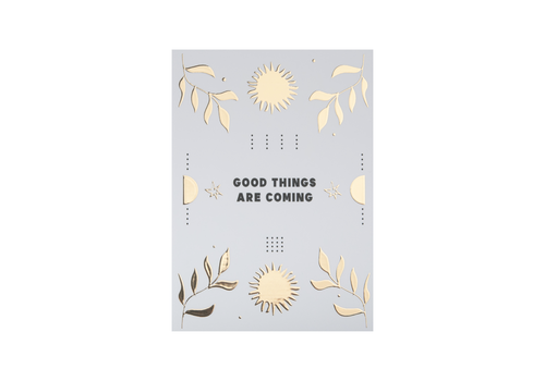 All the Luck in the World Postcard Good things are coming