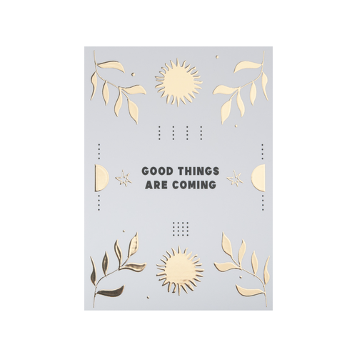Postcard Good things are coming