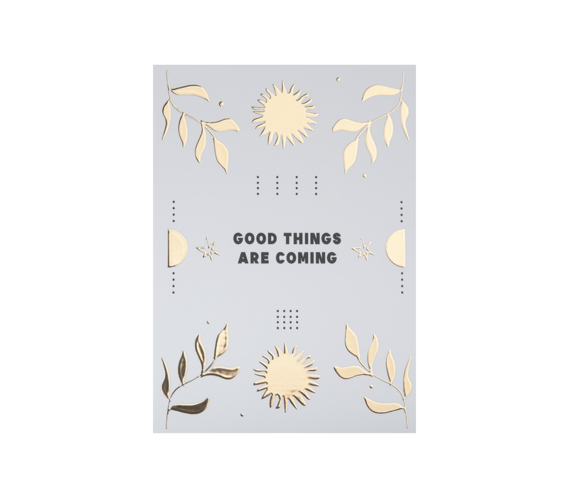 Kaart Good things are coming