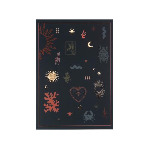 Postcard Lucky symbols