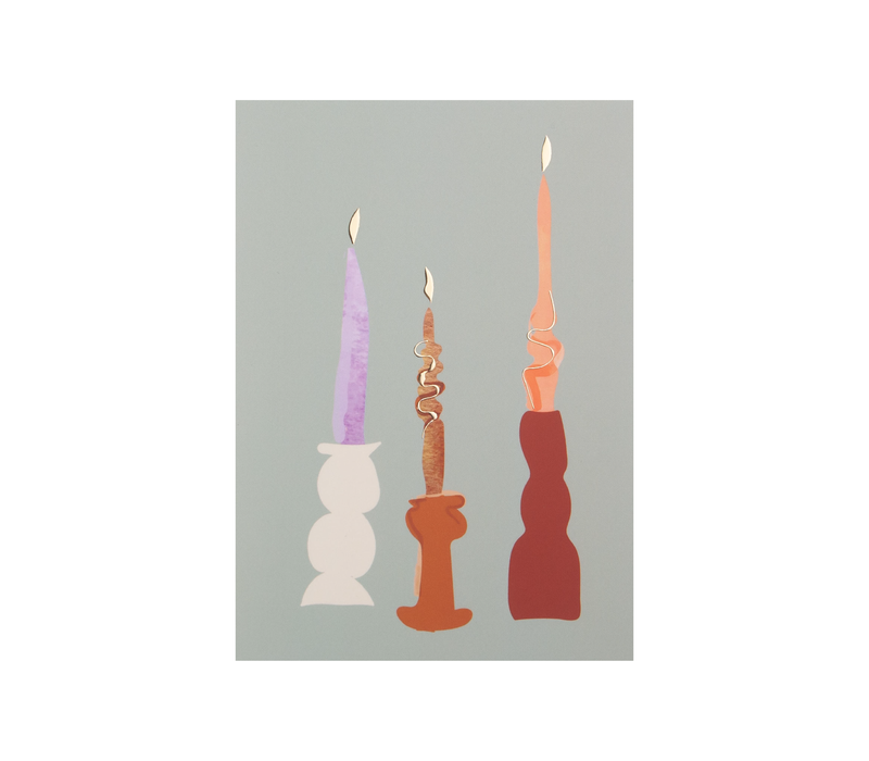 Postcard Candles