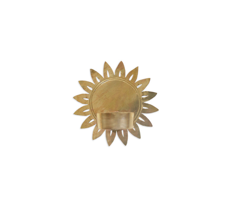 Waxinelichthouder met bloem