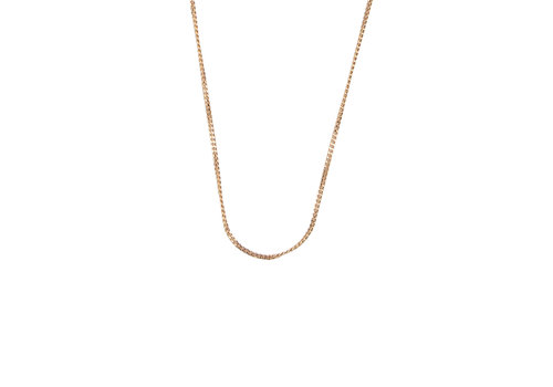 All the Luck in the World Essentials Goldplated Ketting Platte Schakel
