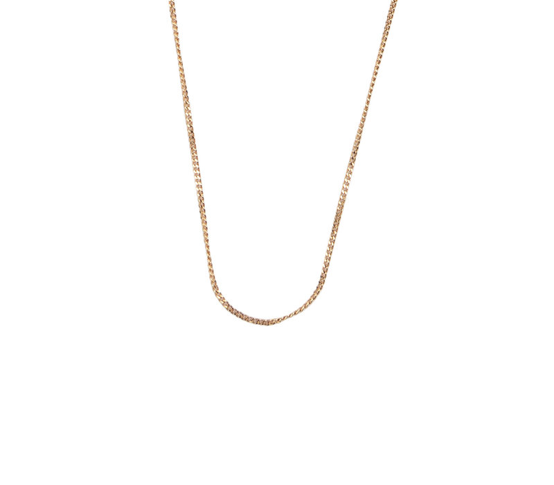 Essentials Goldplated Necklace Curb Chain