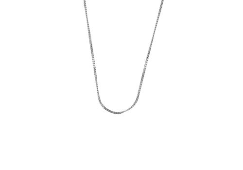 All the Luck in the World Essentials Silverplated Ketting Platte Schakel