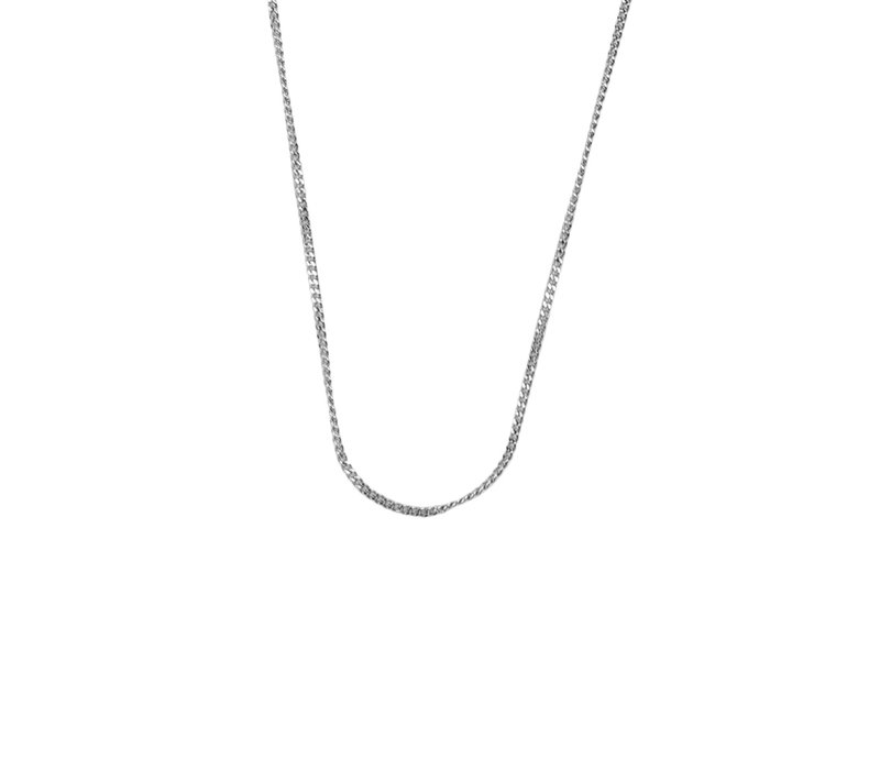 Essentials Silverplated Necklace Curb Chain