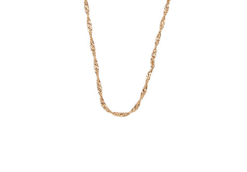 All the Luck in the World Essentials Goldplated Ketting Gedraaid