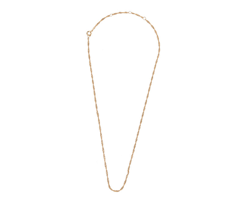 Essentials Goldplated Necklace Twisted