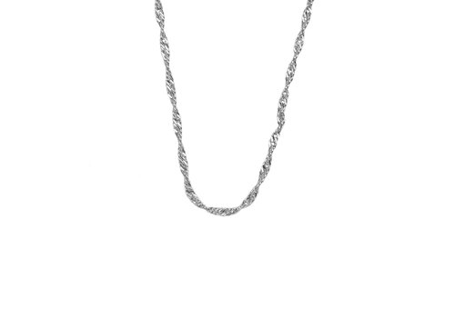 All the Luck in the World Essentials Silverplated Ketting Gedraaid