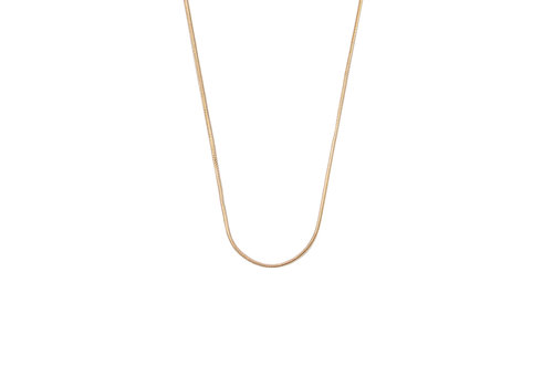 All the Luck in the World Essentials Goldplated Necklace Round Snake