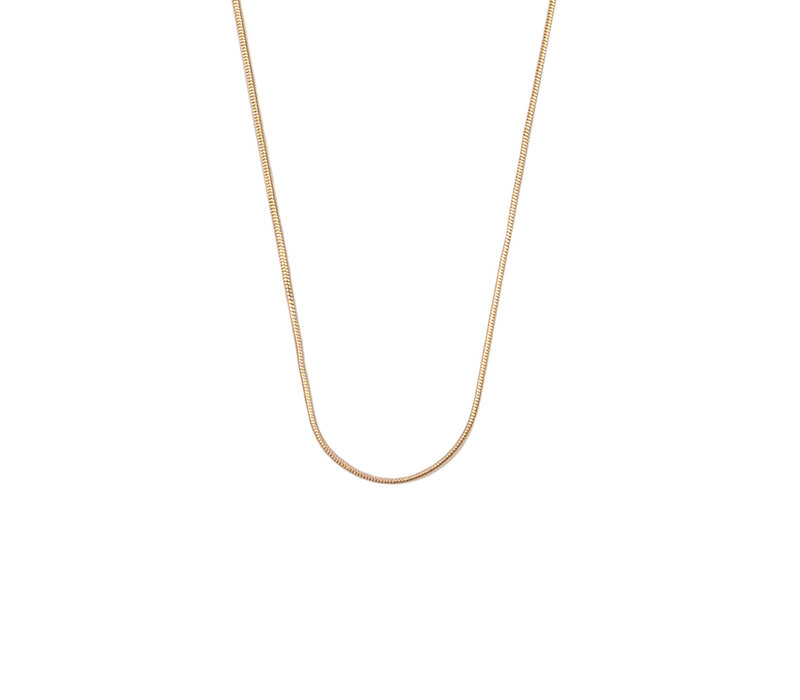 Essentials Goldplated Necklace Round Snake