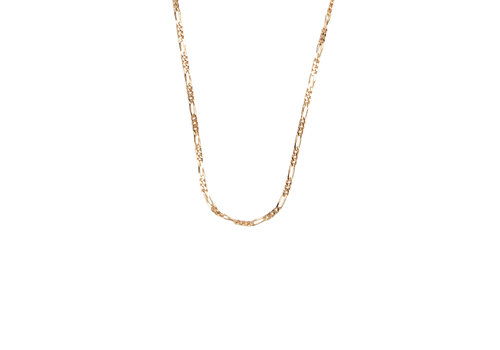All the Luck in the World Essentials Goldplated Necklace Figaro