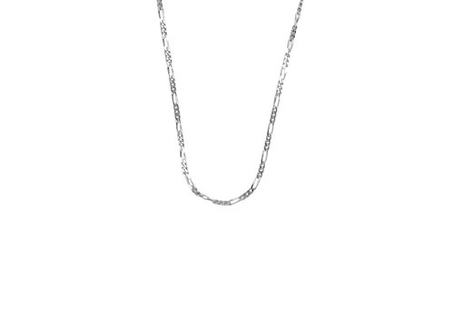 All the Luck in the World Essentials Silverplated Necklace Figaro