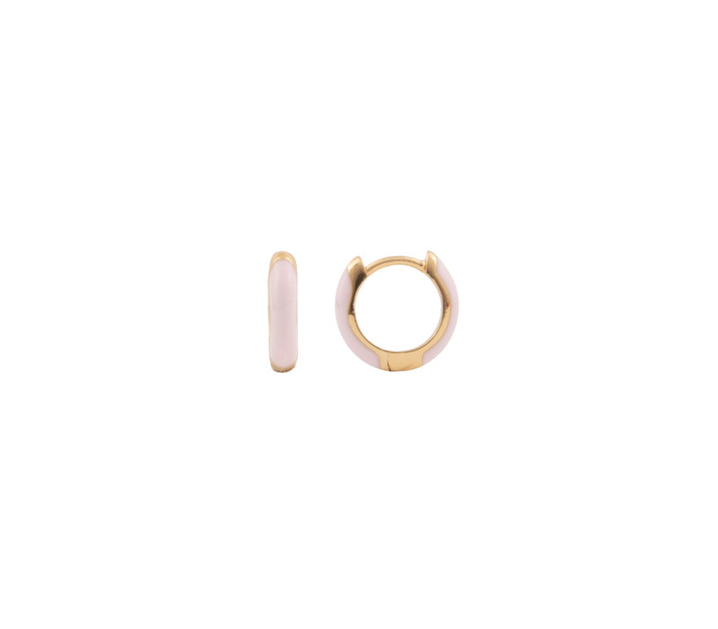 Bloom Goldplated Earring Light Pink