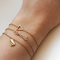Urban Goldplated Bracelet Namaste