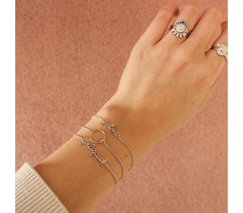 Urban Silverplated Armband Girlsquad