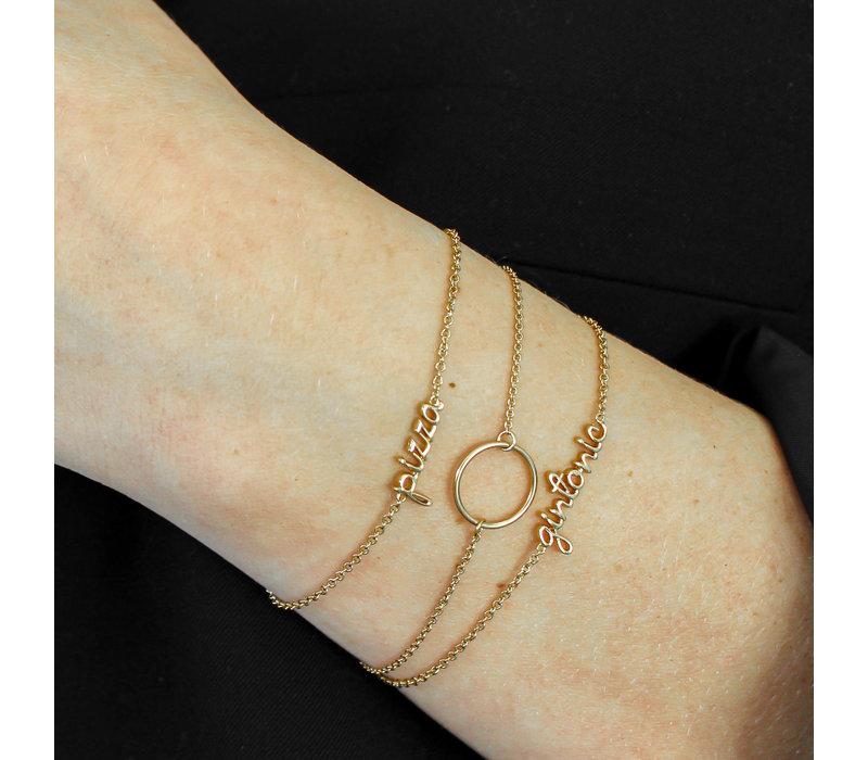 Armband Gintonic verguld