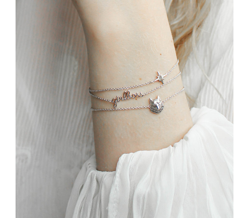Urban Silverplated Armband Girlboss