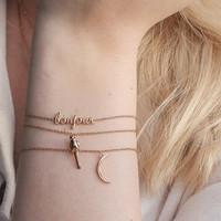 Urban Goldplated Armband Bonjour