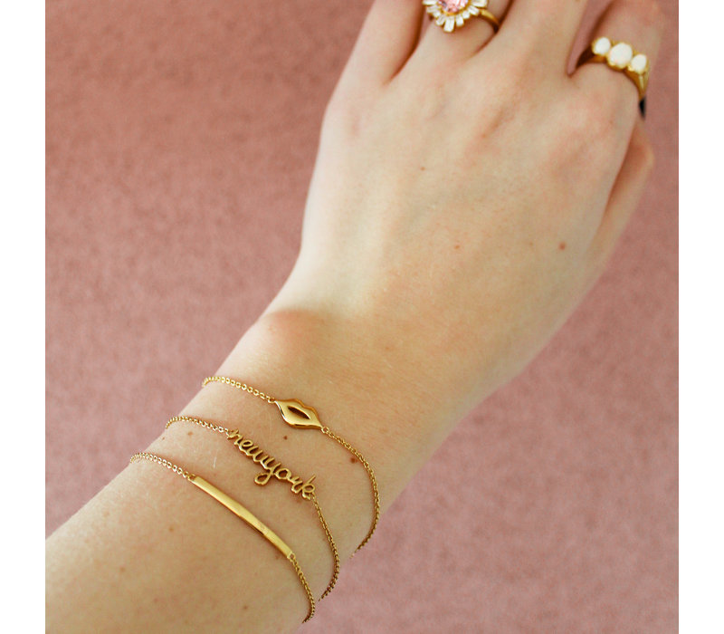 Urban Goldplated Armband New York