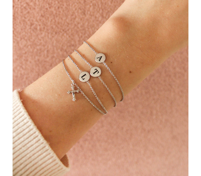 Character Silverplated Bracelet letter A