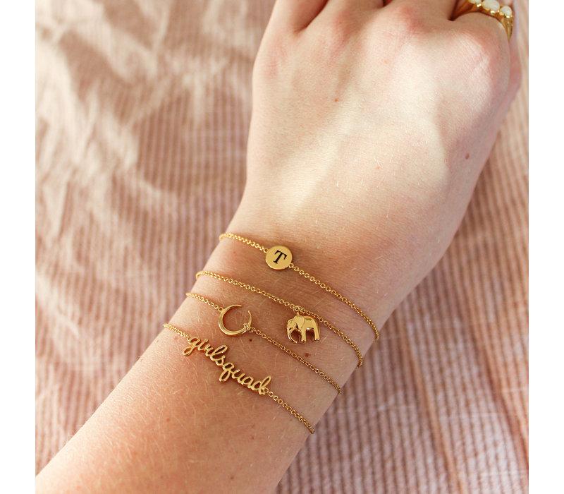 Character Goldplated Bracelet letter T