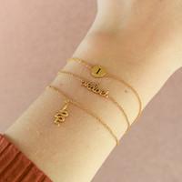 Bracelet letter I plated