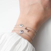 Bracelet letter W plated