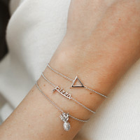 Souvenir Silverplated Armband Ananas