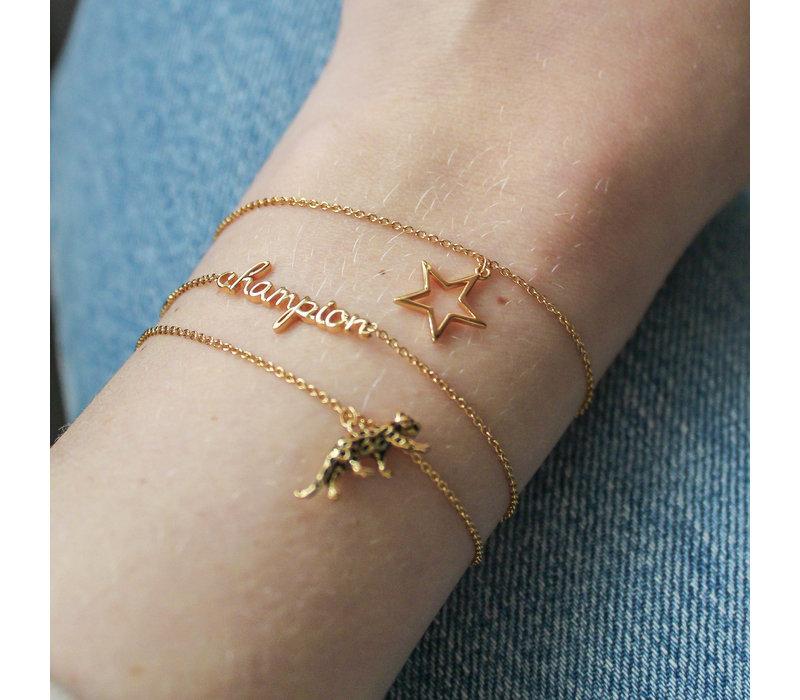 Souvenir Goldplated Armband Ster