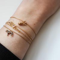 Souvenir Goldplated Armband Zebra