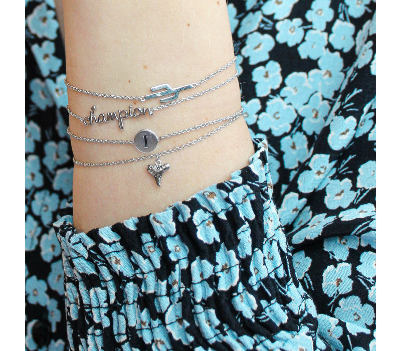 Souvenir Silverplated Bracelet Tooth