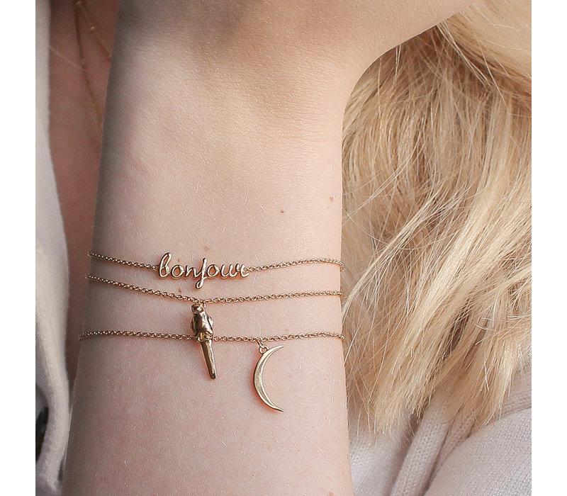 Souvenir Goldplated Armband Lange Maan