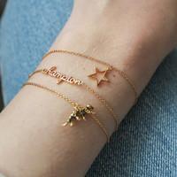 Souvenir Goldplated Armband Luipaard