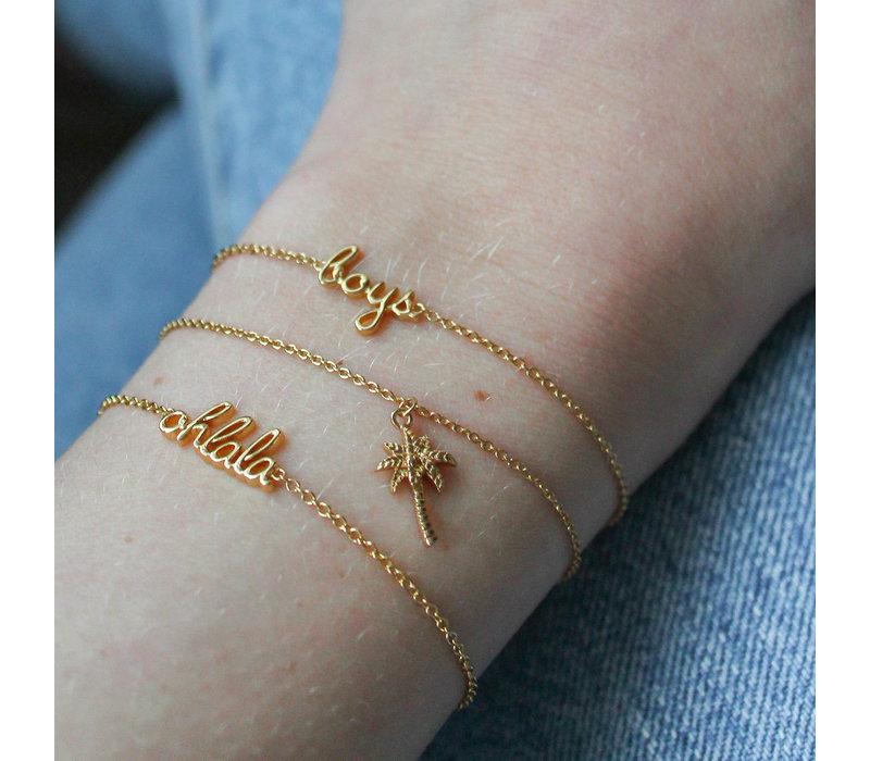 Souvenir Goldplated Bracelet Palm Tree