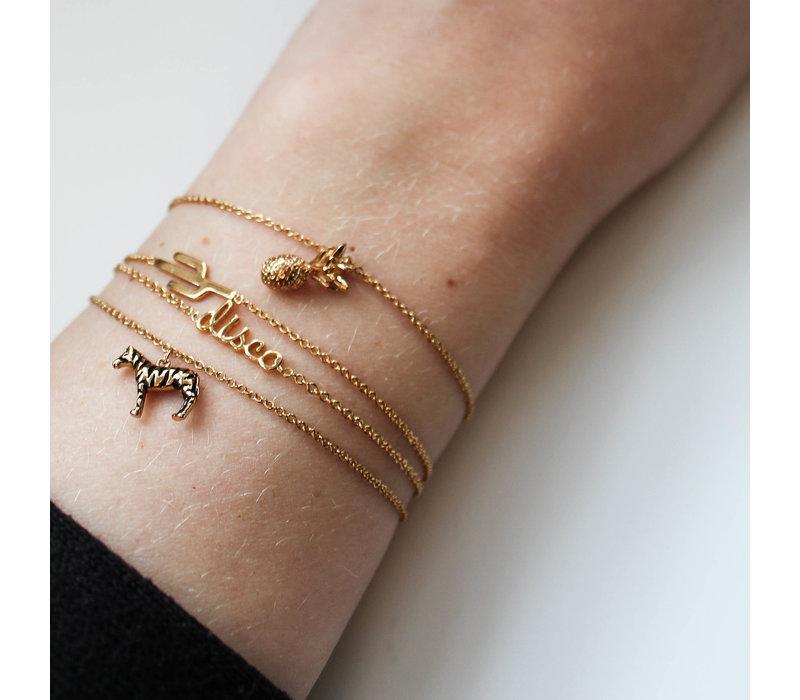 Souvenir Goldplated Armband Cactus