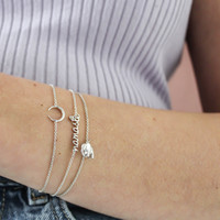 Souvenir Silverplated Bracelet Elephant