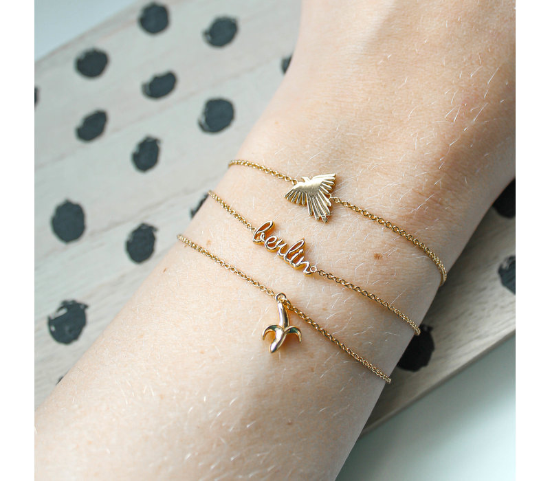 Souvenir Goldplated Armband Banaan