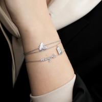 Souvenir Silverplated Bracelet Rectangle