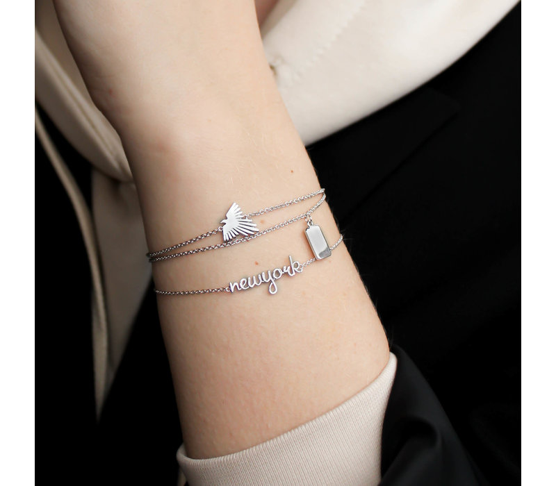 Souvenir Silverplated Armband Rechthoek