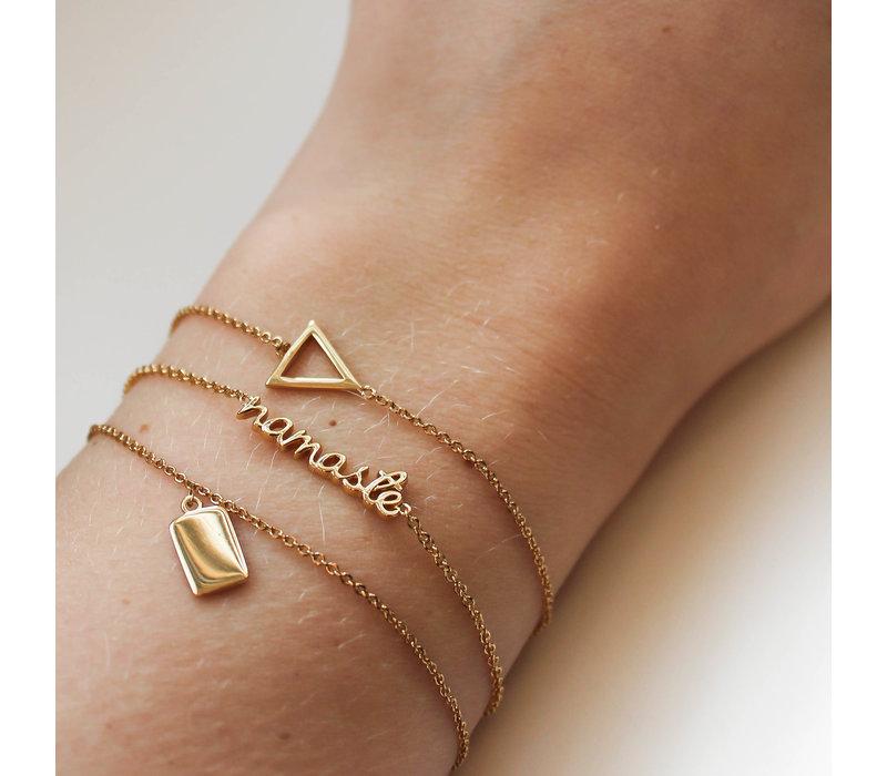 Souvenir Goldplated Armband Rechthoek